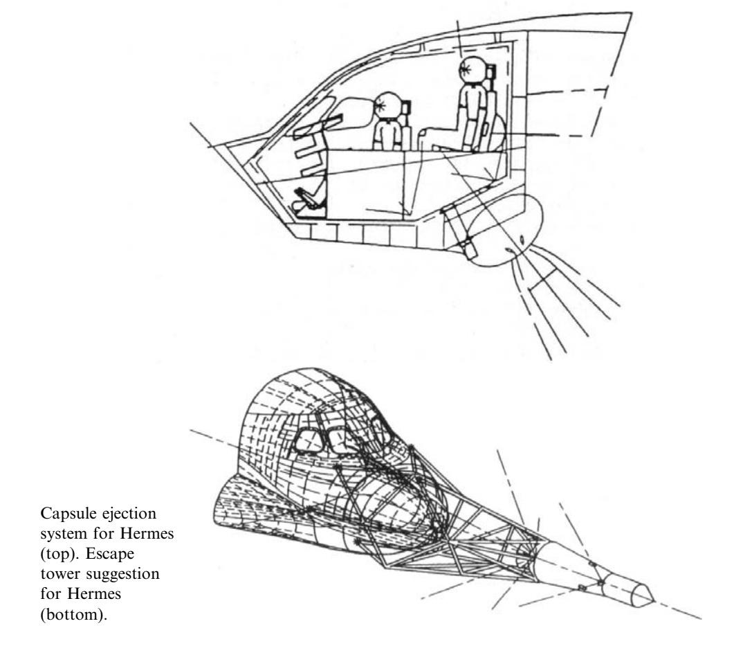 欧洲航天飞机竟然曾考虑安装载人飞船式逃逸塔